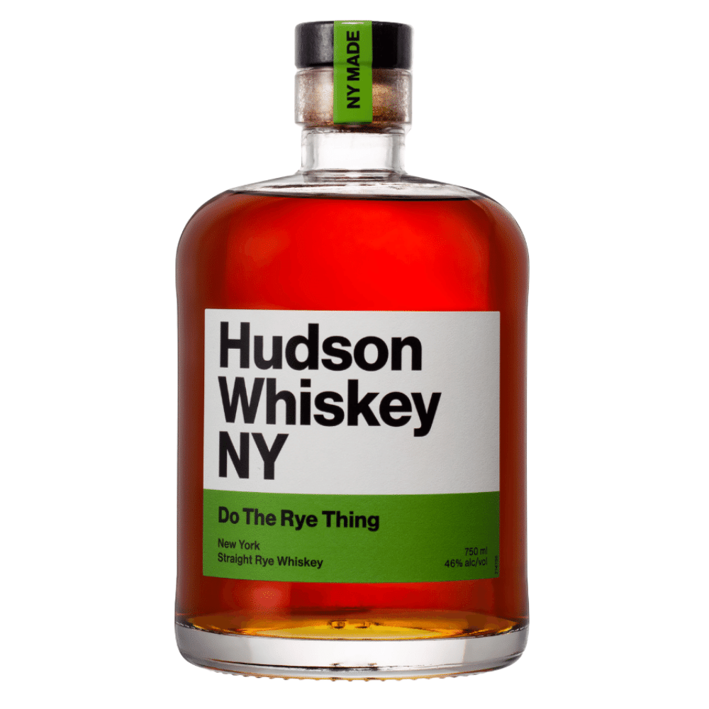 Hudson Whiskey NY Do The Rye Thing 750ml Front Label