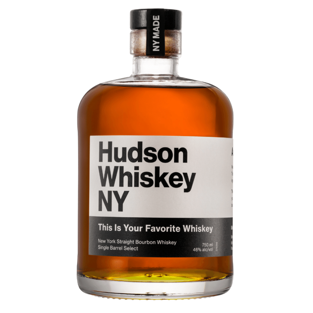 Hudson Whiskey NY This Is Your Favorite Whiskey 750mL Front Label