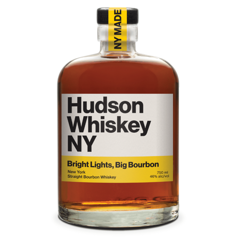 Hudson Whiskey NY Bright Lights, Big Bourbon 750mL bottle front