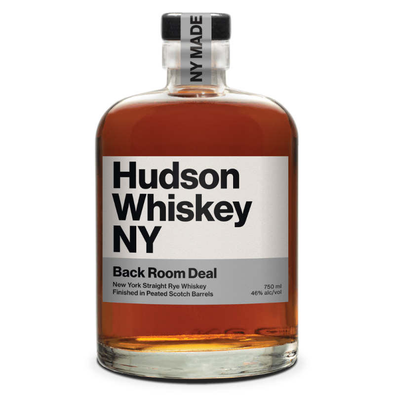 Hudson Whiskey NY Back Room Deal bottle front