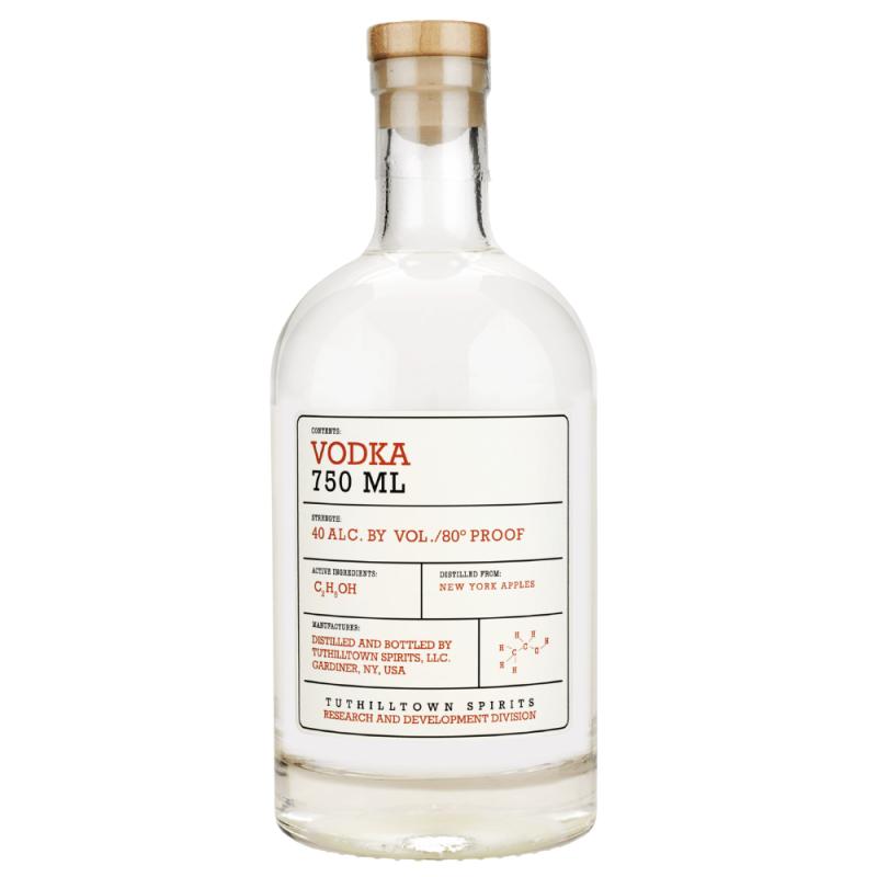 Tuthilltown Apple Vodka 750ml Front Label