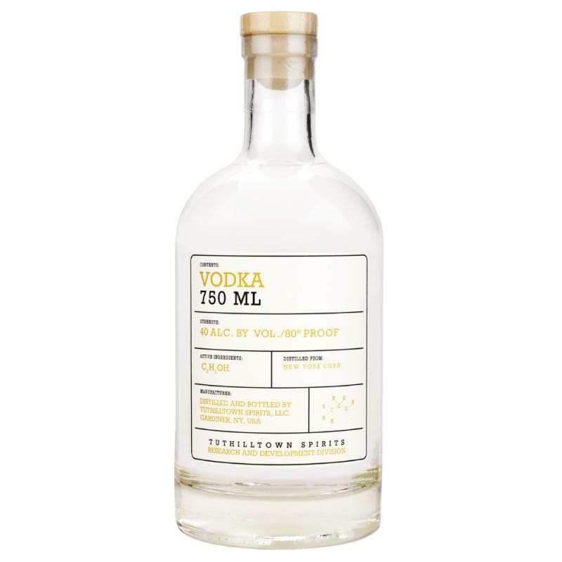 Tuthilltown Corn Vodka 750ml Front Label
