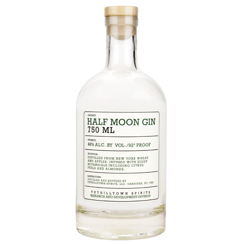Tuthilltown Half Moon Orchard Gin 750ml Front Label